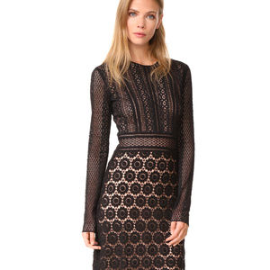 Theory Rabella maxi black lace dress